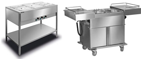 Bain Maries and Bain Maries Trolleys